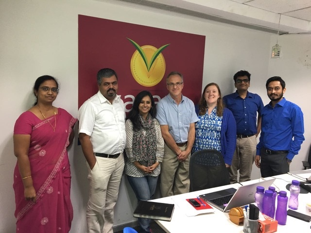 BwB Volunteer Gadi Meir with Varam Team and BwB Manager (middle)